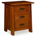 Freemont Mission 3 Drawer Nightstand FR 303D