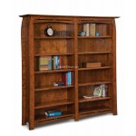 Boulder Creek Double Bookcase-One Piece Unit FVB-012-BC-6Ft.
