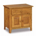 Shaker 1 Drawer 2 Door Nightstand JRS 026
