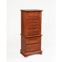 "48""  Deluxe Jewelry Armoire w/Clock Base 140"