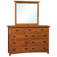 Classic Mission 9 Drawer Dresser BCM05
