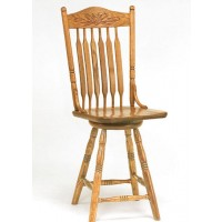 Bent Paddle Post Swivel Barstool