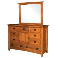 Brooklyn Mission 9 Drawer 1 Drawer Dresser