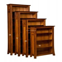 "Bridgefort Mission 60"" Bookcase BFB4060-O"