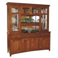 Cape Cod Mission Hutch shown 3 door 4 drawer base