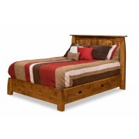 Colebrook Bed with low footboard and understorage