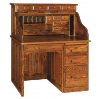 Classic Single Pedestal Roll-Top Desk RW2007