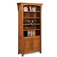 Bridger Mission Bookcase with doors FVB-010-BM