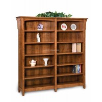 Bridger Mission Double Bookcase-One Piece Units FVB-012-BM-6ft