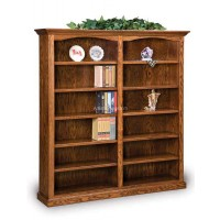 Hoosier Heritage Double Bookcase-One Piece Units FVB-012-HH-6ft