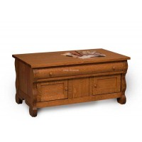 Old Classic Sleigh Enclosed Coffee Table with drawer FVCT-OCS-EN
