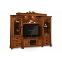 Modesto 6-Piece Wall Unit with Adjustable Bridge FVE-049-MD - 5 widths