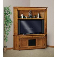 Old Classic Sleigh 2-Piece Corner Media Console with Hutch FVE-053-OCS