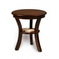 Sierra Round-top End table with shelf FVET-22R-SR