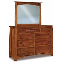 Boulder Creek Dresser with mirror - Amish Built - Solid Wood furniture