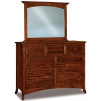 Carlisle 9 Drawer Mule Dresser Shown with optional mirror