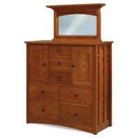Kascade His and Hers Chest 7 Drawers 2 doors