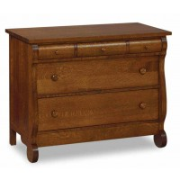 Old Classic Sleigh 5 Drawer Child's Chest JRO  032