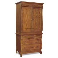 Old Classic Sleigh  Armoire 2 Piece 4 Drawer JRO 041-3