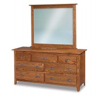 Shaker 7 Drawer Dresser with Arch Drawer w/ Jewelry Drawers JRS 067