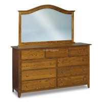 9 Drawer Mule Dresser JRS 073 with optional 034 Mirror (not included in price)