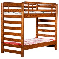 Ladder Loft bed 019 With Bottom Bed