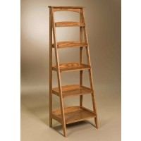 Ladder shelf - shown in oak wood