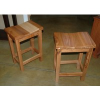 "Mission Barstools 24"" Rustic Cherry Wood"