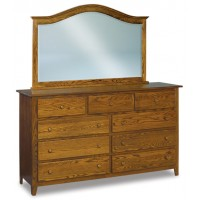 Shaker Beveled Arched Crown Dresser Mirror JRS 034