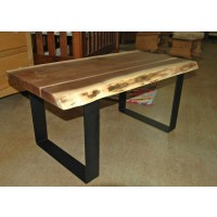 Modern Walnut Live Edge Coffee Table