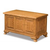 Triple Raised Panel Cedar Chest